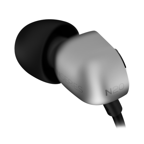 N20U - Silver - Reference class in-ear headphones with universal 3 button remote. - Detailshot 2