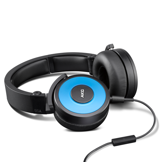 Y55 - Blue - High-performance DJ headphones with in-line microphone and remote - Detailshot 1