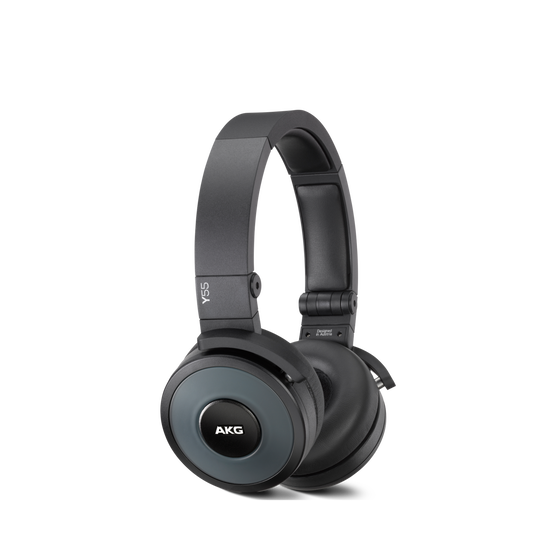 Y55 - Black - High-performance DJ headphones with in-line microphone and remote - Hero