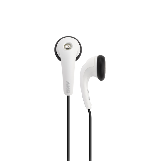 Y 16A - White - Stereo in-ear headset with microphone and remote - Hero