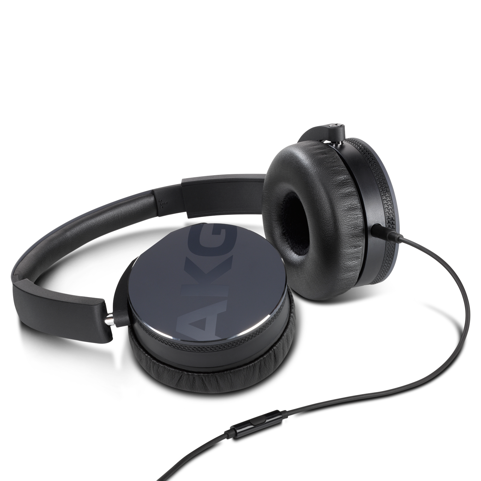 Y50 - Black - On-ear headphones with AKG-quality sound, smart styling, snug fit and detachable cable with in-line remote/mic - Detailshot 3
