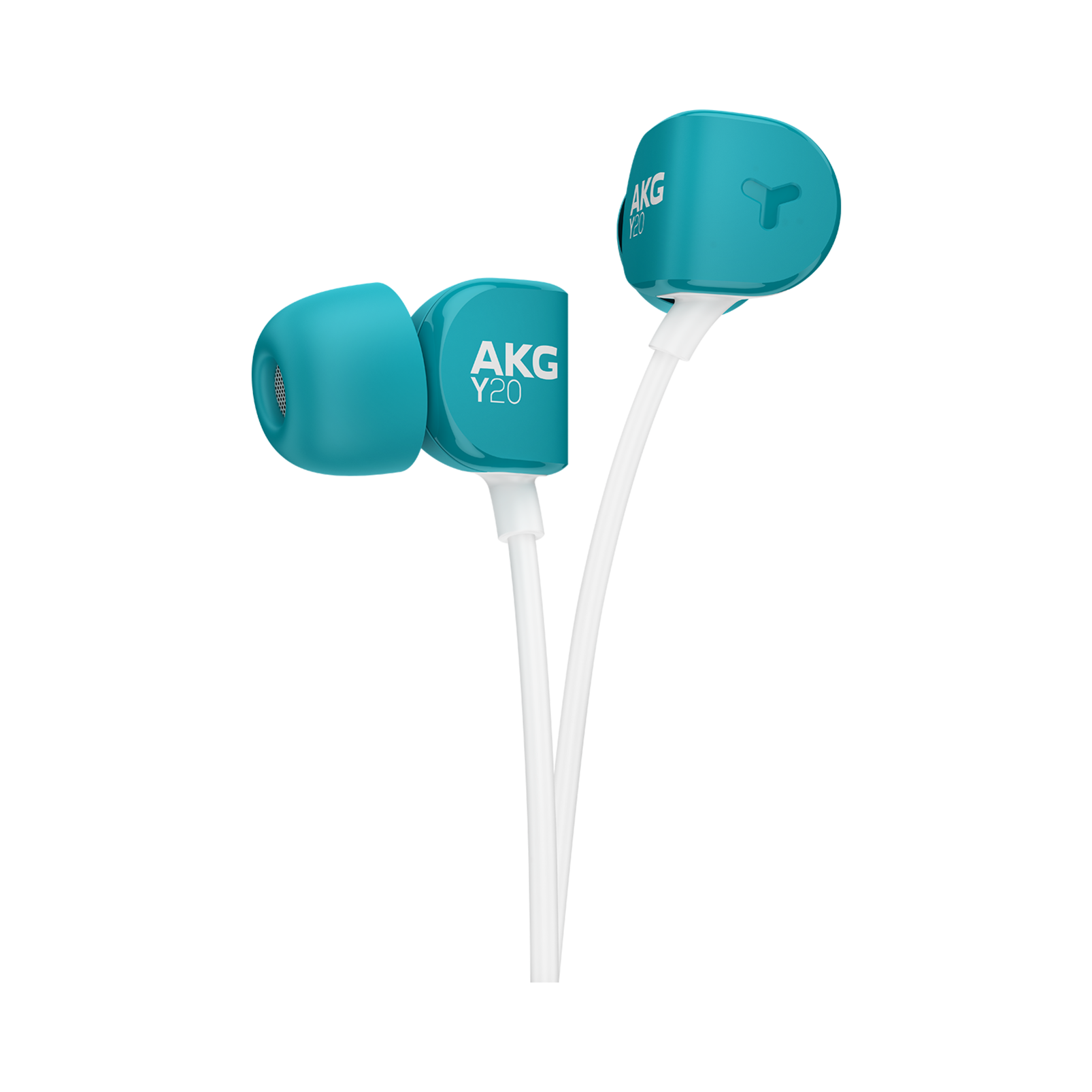 Y20U - Teal - Signature AKG in-ear stereo headphone that takes your calls - Detailshot 1
