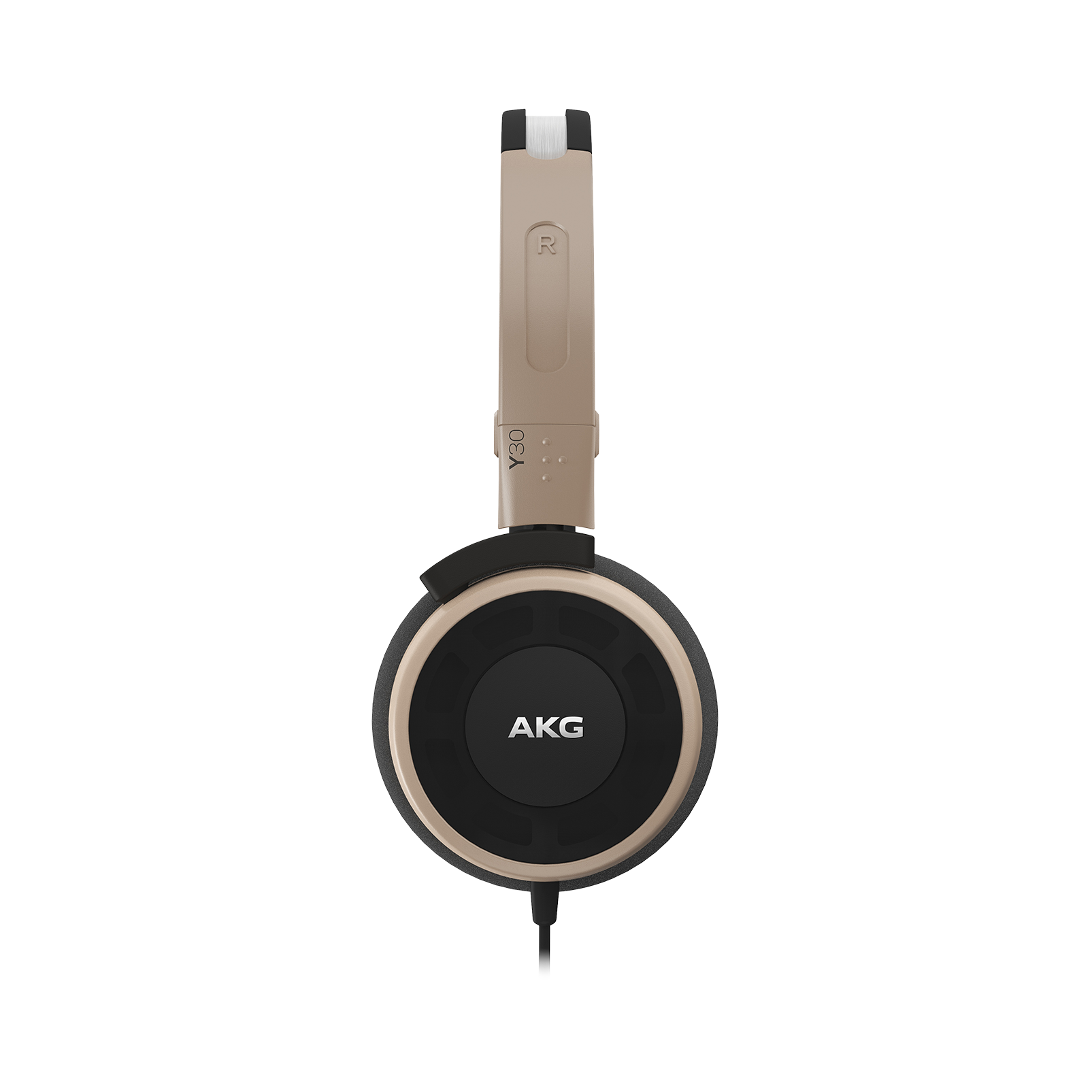 Y 30 - Brown - Stylish, uncomplicated, foldable headphones with 1 button universal remote/mic - Detailshot 1