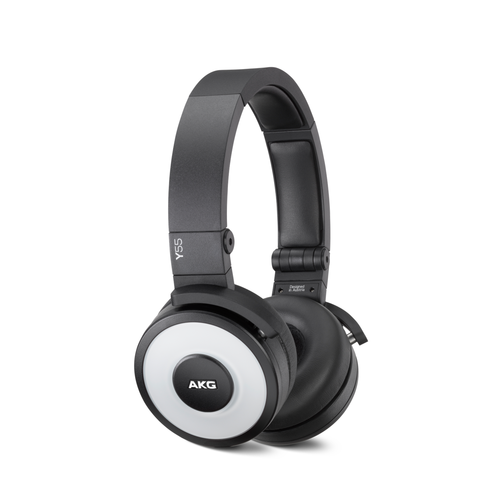 Y55 - White - High-performance DJ headphones with in-line microphone and remote - Hero